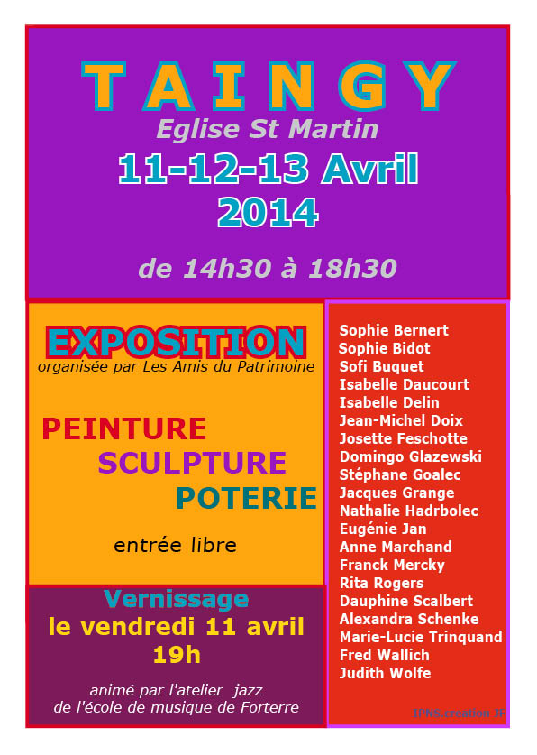 affiche Taingy 2O14
