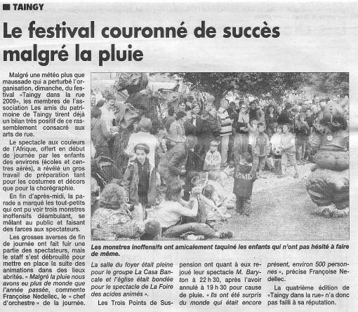 le festival couronné de succès