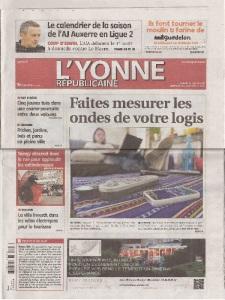 TDR  2014 la Une Yonne 31 mai